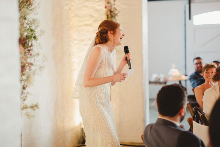 Bride Making Speech At Wedding | Images by Frances Sales