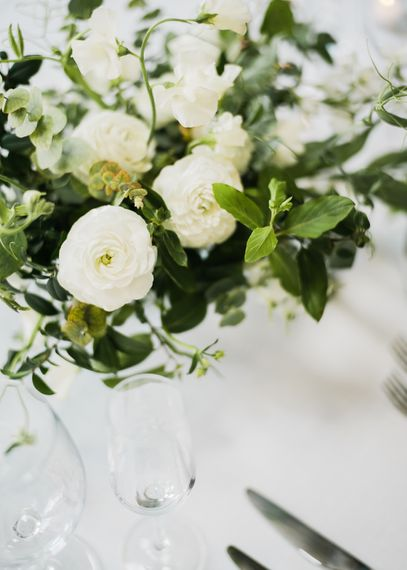White Flowers For Wedding Tables
