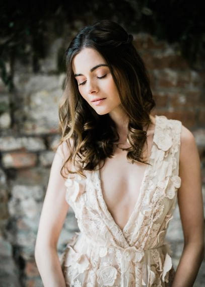 Halfpenny London Wedding Dress | Clemence in Blush