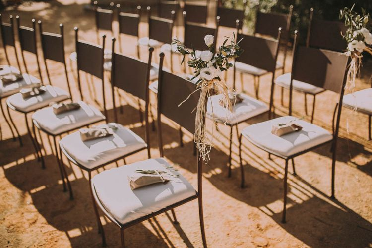 Ceremony Chair Decor & Order of Service