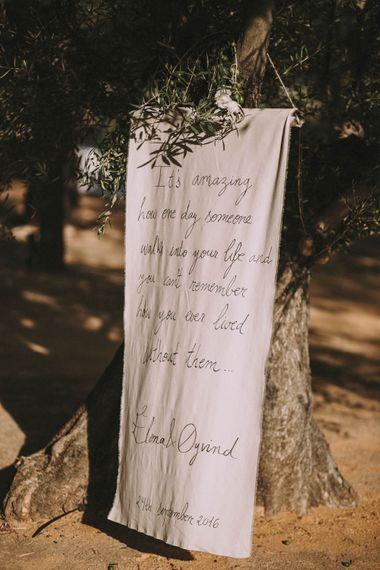 Romantic Quote Wedding Sign Wedding Decor