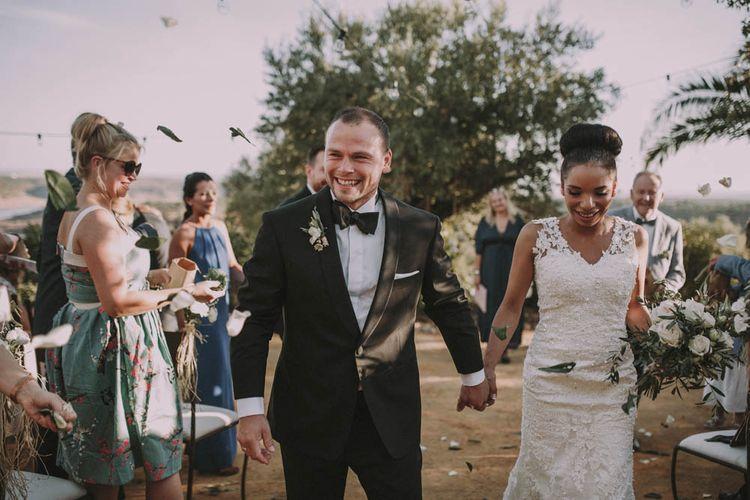 Bride & Groom Outdoor Spanish Wedding Ceremony