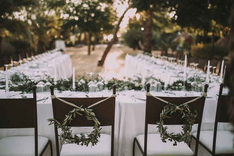 Olive Branch Chair Back Decor
