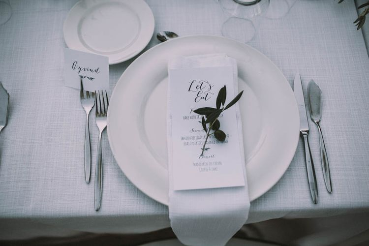 Olive Branch Place Setting