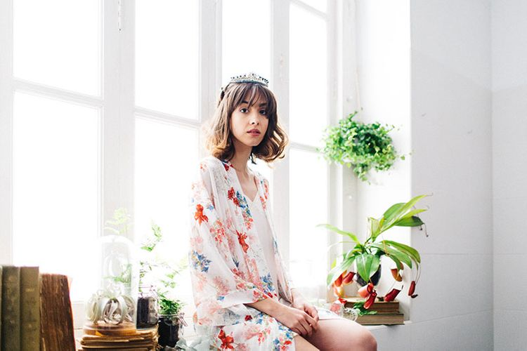Floral Robe By Diseño2 Lencería