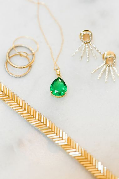 Bridal Accessories | Emerald Necklace