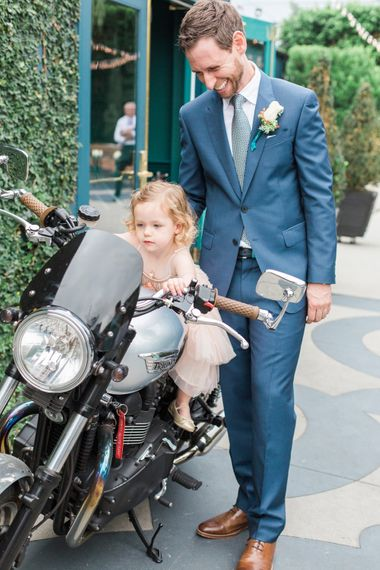 Flower Girl on a Motor Cycle