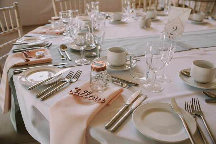 Wooden Laser Cut Place Settings For Wedding