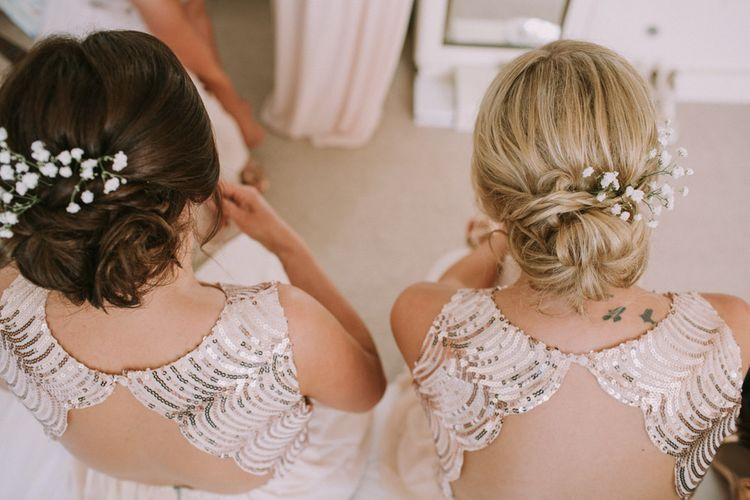 Sequinned Bridesmaids Dresses