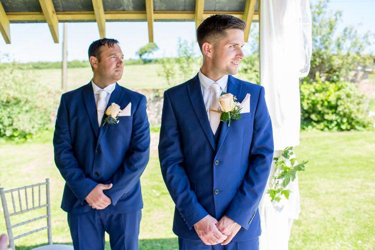 Groom & Groomsmen In Blue Suits From Next