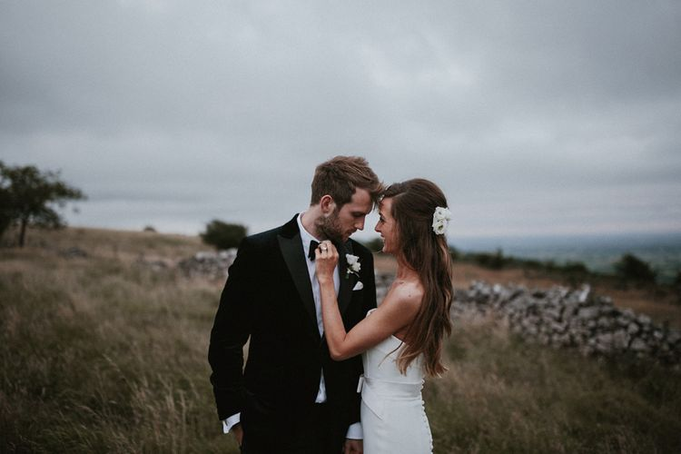 Atmospheric Bride and Groom Portrait Shots in the South West Countryside by James Frost