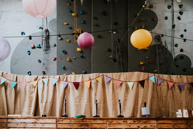 Bright Hanging Paper Lanterns & Bunting Wedding Decor   Colourful Outdoor Wedding at Lineham Farm in Leeds   Shutter Go Click Photography