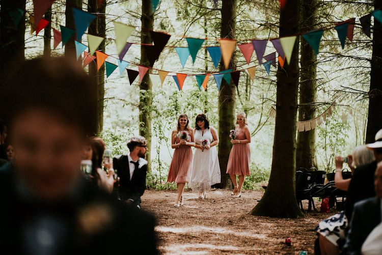 Bridesmaids in Marks and Spencer & Coast Dresses   Colourful Outdoor Wedding at Lineham Farm in Leeds   Shutter Go Click Photography