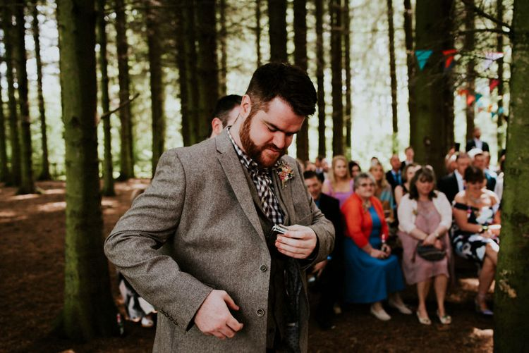 Woodland Wedding Ceremony   Colourful Outdoor Wedding at Lineham Farm in Leeds   Shutter Go Click Photography