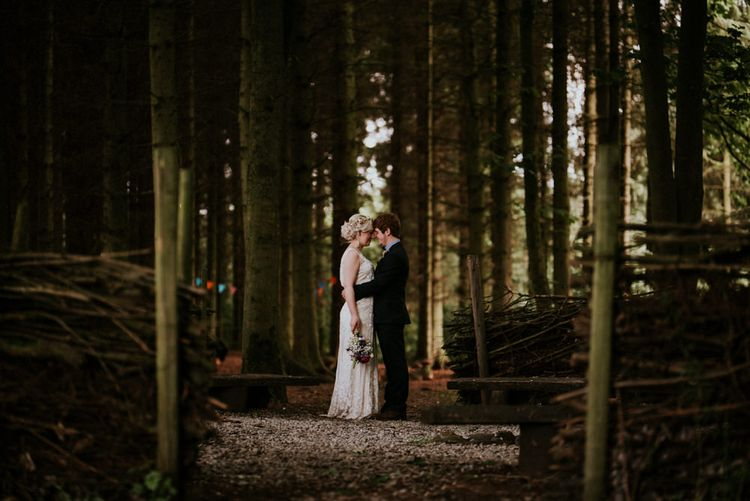 Bride in Catherine Deane Gown   Groom in Ben Sherman Suit, Bow Tie & Gingham Shirt   Colourful Outdoor Wedding at Lineham Farm in Leeds   Shutter Go Click Photography