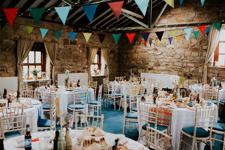 Colourful Barn Reception at Lineham Farm in Leeds   Shutter Go Click Photography