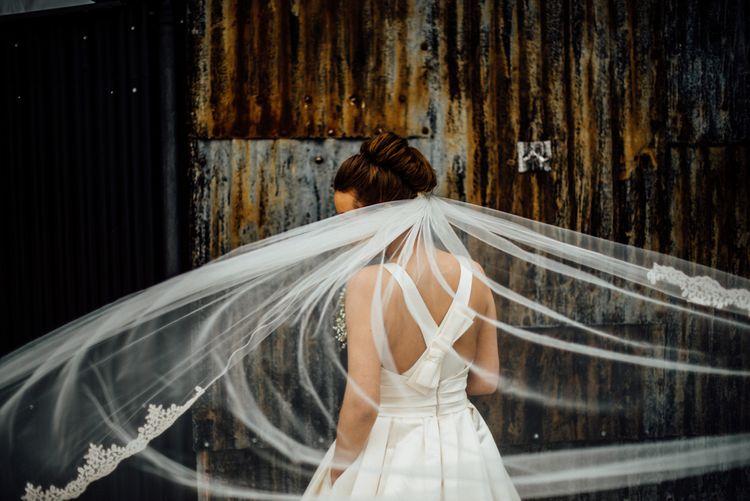 Bride in Pronovias Tami Wedding Dress | Michelle Wood Photography