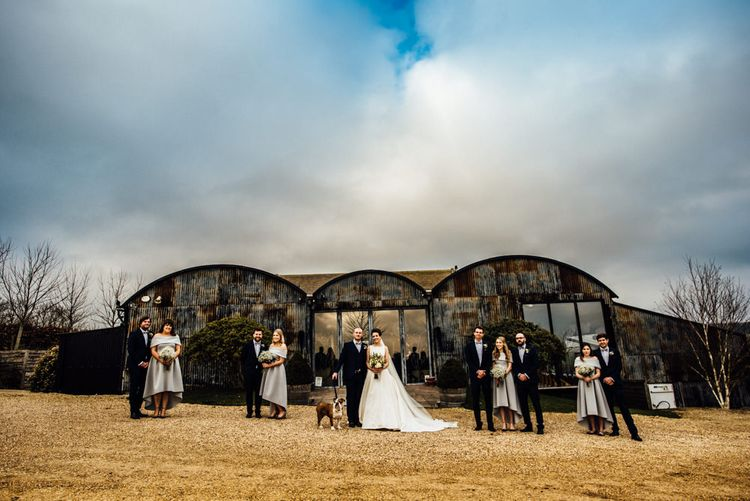 Wedding Party | Cripps Stone Barn | Michelle Wood Photography