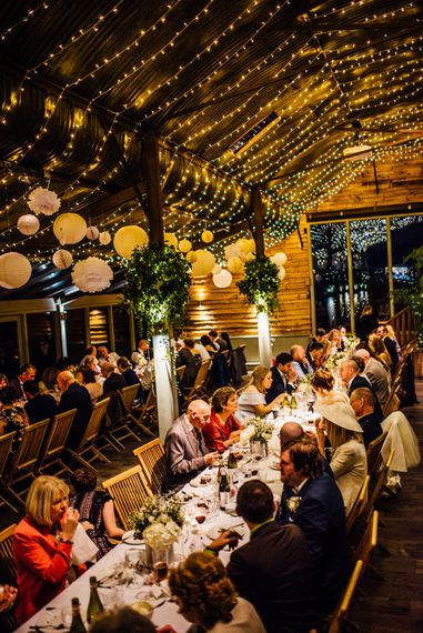 Tin Can & Floral Centrepieces | Wedding Decor | Industrial Wedding at Cripps Stone Barn with White & Greenery Flowers | Michelle Wood Photography