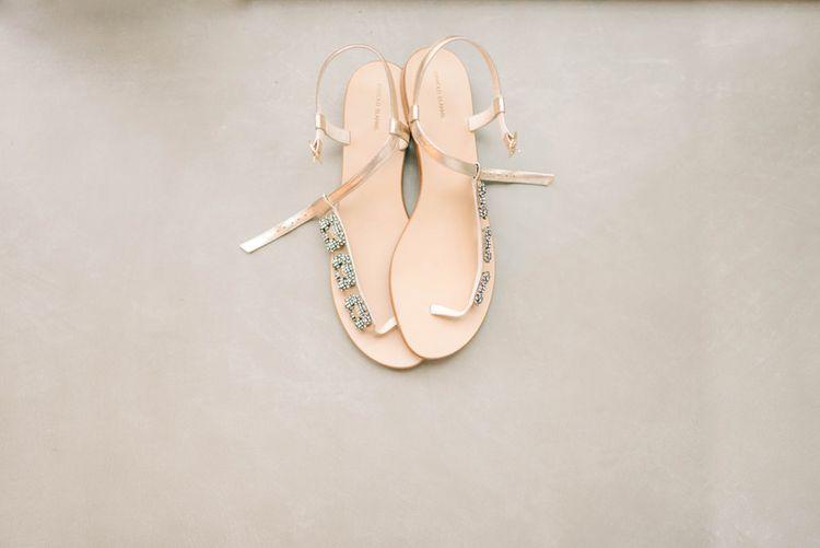 Flat Sandals For Bride By Manolo Blahnik
