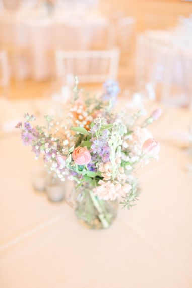 Jam Jar Flowers For A Tipi Wedding At Brinkburn Priory Northumberland