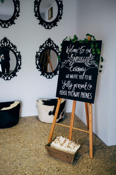 Unplugged Wedding Ceremony Sign | Dale Weeks Photography