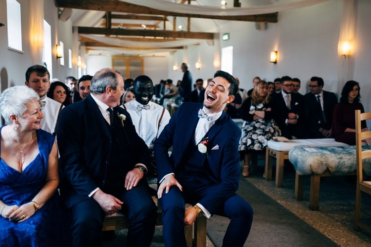 Groom at the Altar | Dale Weeks Photography