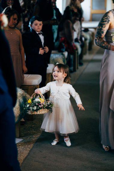 Flower Girl in Monsoon Dress | Dale Weeks Photography