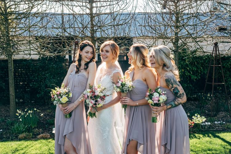 Bridesmaids in Grey ASOS Dresses | Dale Weeks Photography