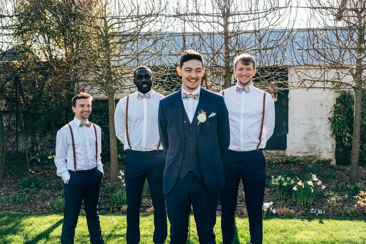 Groomsmen in Next Suit & Topman Trousers | Dale Weeks Photography