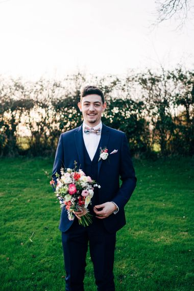 Groom in Next Suit | Dale Weeks Photography