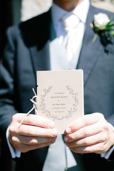 Kraft Paper Wedding Plan