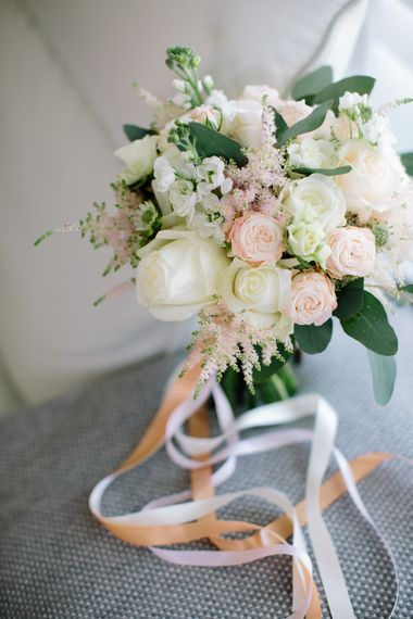 Blush Wedding Bouquet with Ribbon