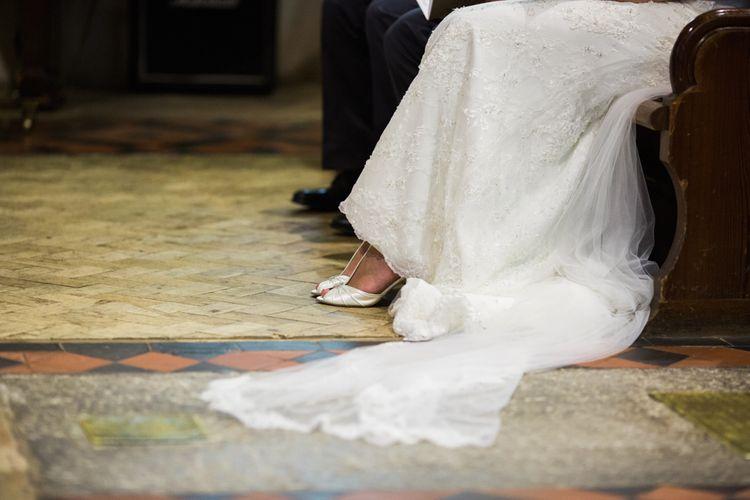 Train of Maggie Sottero Wedding Dress