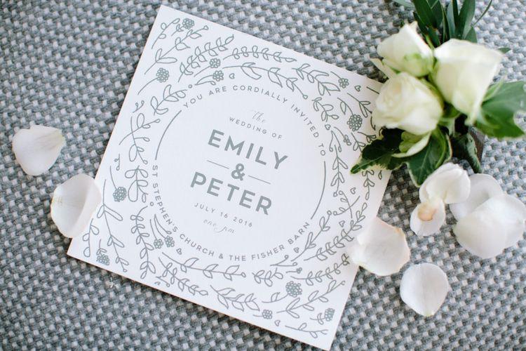 Grey & White Elegant Wedding Stationery