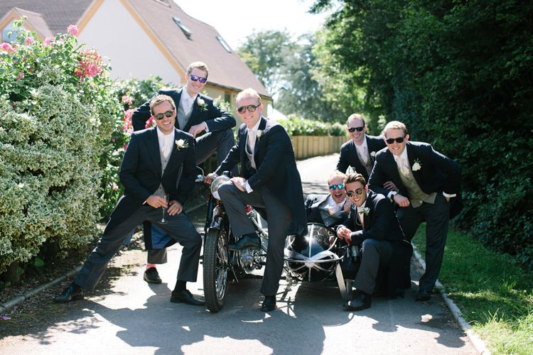 Groomsmen in Traditional Tails