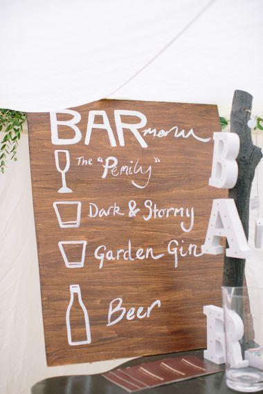 DIY Bar Sign