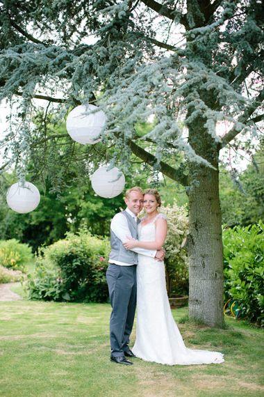 Bride & Groom Hanging Paper Lanterns