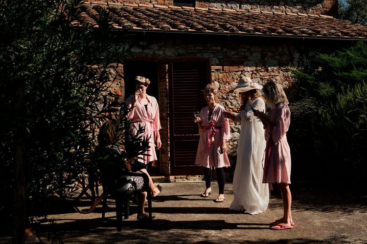 Wedding Morning Bridal Preparations | Destination Wedding at Pienza, Italy | Nordica Photography