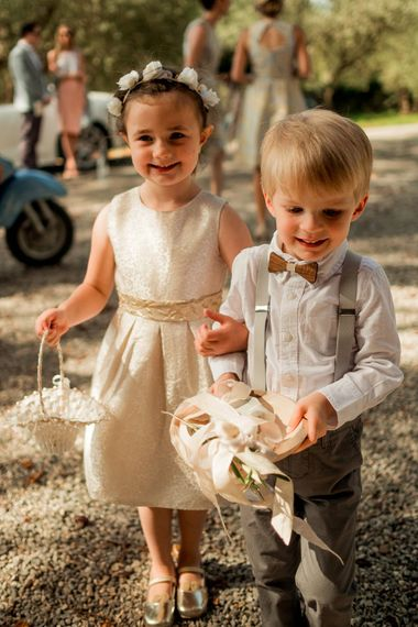 Page Boy & Flower Girl | Destination Wedding at Pienza, Italy | Nordica Photography