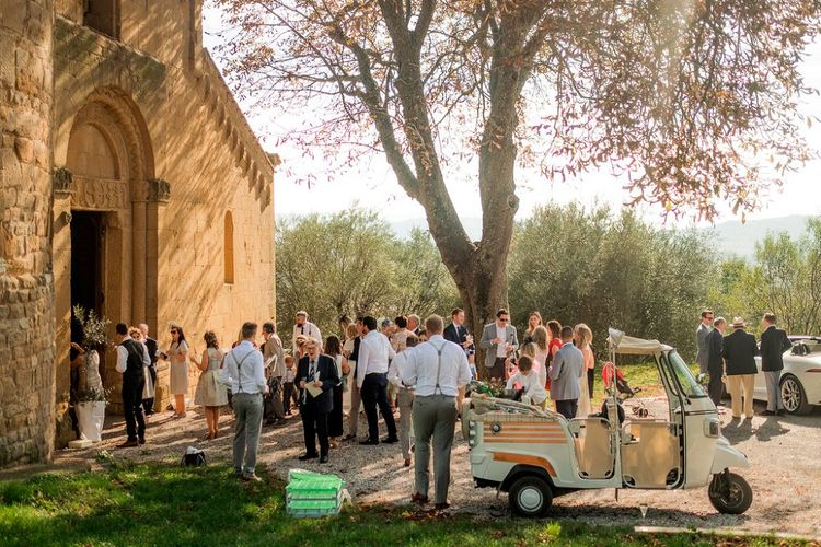 Wedding Ceremony at Pieve di Corsignano | Destination Wedding at Pienza, Italy | Nordica Photography
