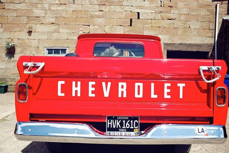 Red Chevrolet Vintage Wedding Car | Vintage Weddings Photography