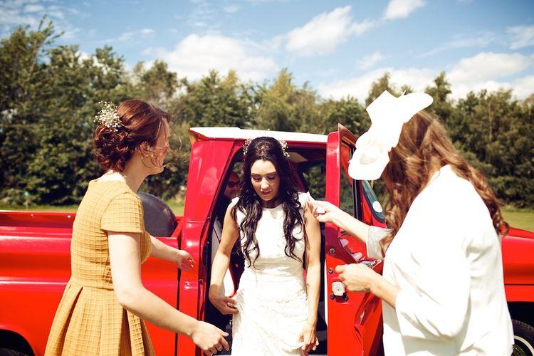 Bride Arriving | Vintage Weddings Photography
