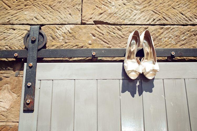 ASOS Satin Bow Bridal Shoes | Vintage Weddings Photography