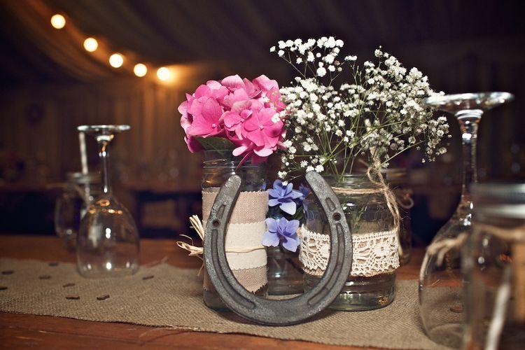 DIY Jars Wrapped in Twine & Hessian | Vintage Weddings Photography