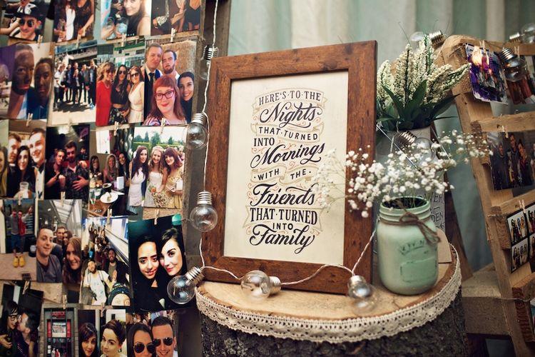 Kilner Jar & Festoon Lights Decor | Vintage Weddings Photography