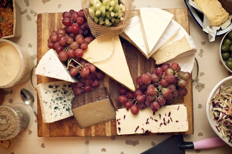 Cheese Board Wedding Food | Vintage Weddings Photography