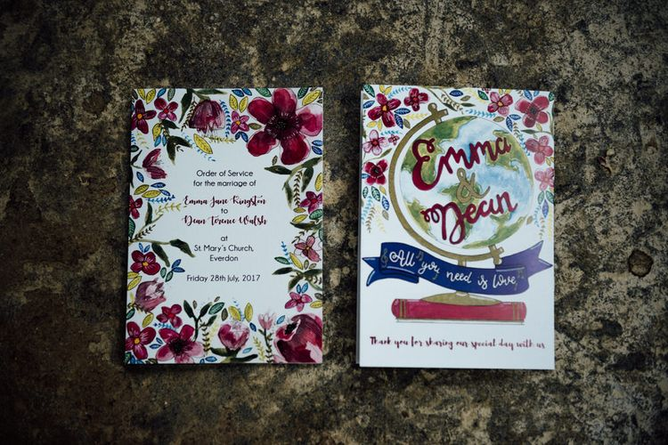 Hand Illustrated Floral Wedding Stationery