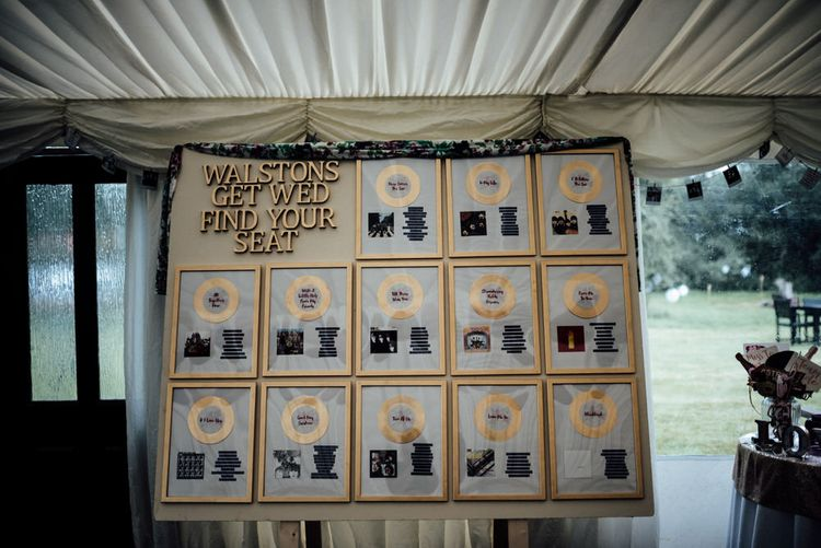Music Inspired Table Plan For Wedding