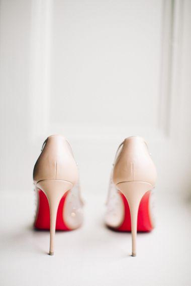 "Louboutin Wedding Shoes | Image by <a href=""https://www.mandjphotos.com/"" target=""_blank"">M&J Photography</a>"